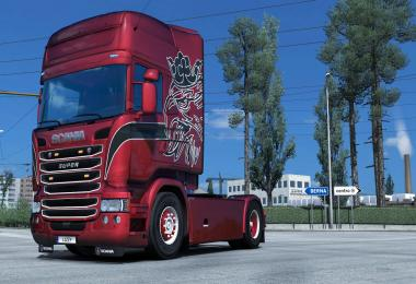 Scania R (RJL) - Split Paintjob (METALLIC) by l1zzy