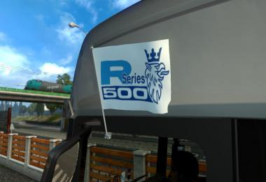 Scania R series 500 Flags & Pennant v1.0