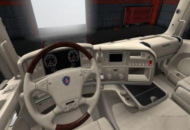 Scania RJL Alcantrara Beige Interior v1.0