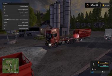 Scania V8 hook lift with rail trailer v1.0.4.3 Final