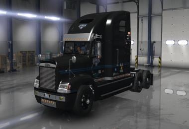 Uncle D Logistics VTC Freightliner FLD V2.0 ONLY Black Skin v1.1