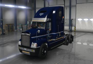 Uncle D Logistics VTC Freightliner FLD V2.0 ONLY Blue Skin v1.2