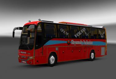 Volvo B12BTX Bus + Passenger + BD Shyamoly Bus Skin v1.0