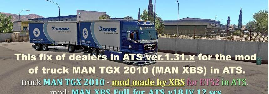 Fix of dealers for MAN TGX 2010 in ATS 1.31.x