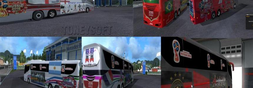 Bus skin pack Russia fifa world cup 2018 v1.0
