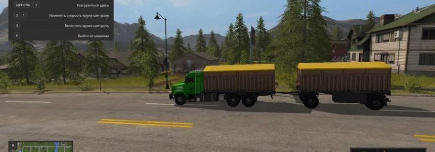 Kraz 64431 + Trailer v1.0 by MaKsoN