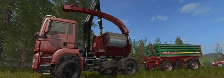 MAN TGS 18.480 with Jenz HEM583 Woodcrusher v2.0