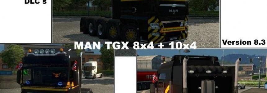 MAN TGX 8x4 10x4 ETS2 1.31.2.x