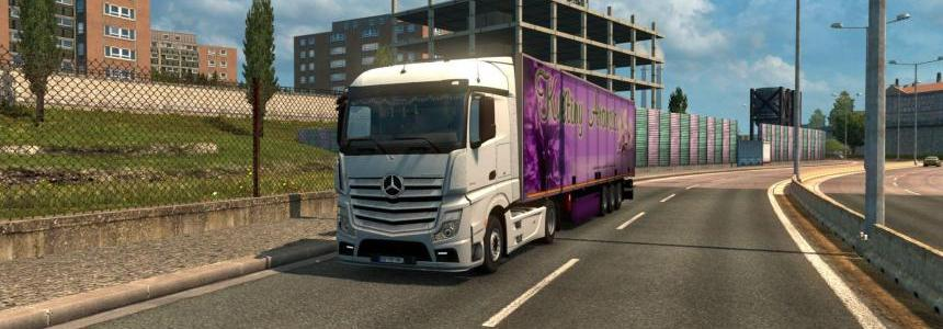 Mercedes Actros MP4 Reworked v1.3 1.31.x