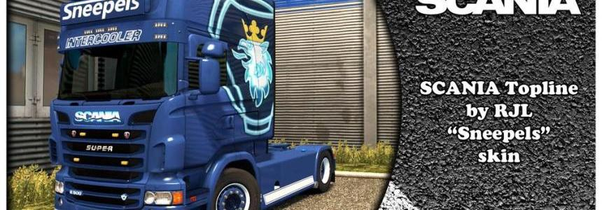 SCANIA SNEEPELS Kit Skin + Lightbox + Wheels for RJL v2.2.2