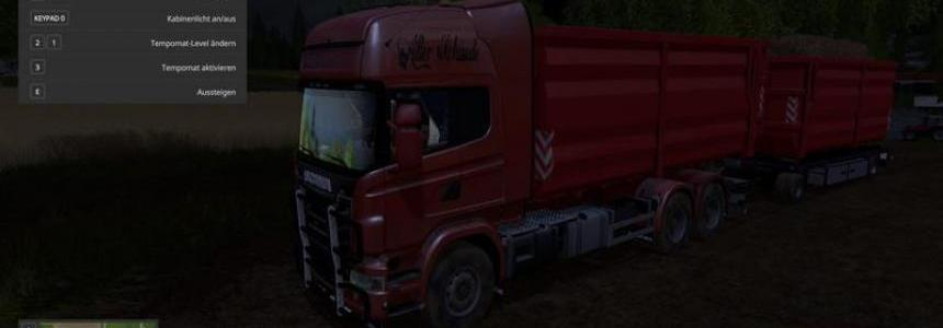 Scania V8 hook lift with rail trailer v1.0.4.5