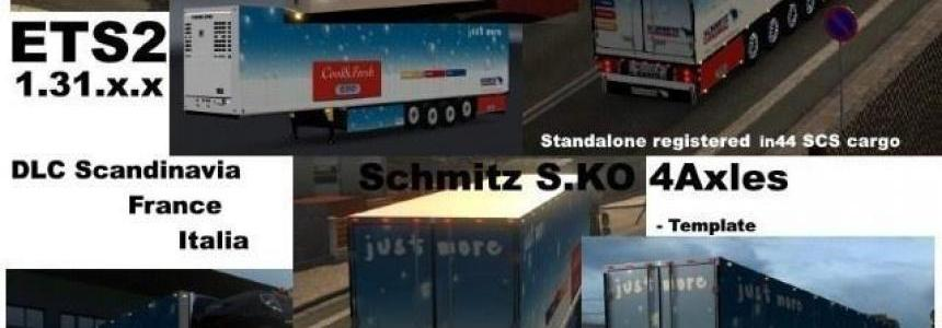Schmitz Cargobull S.KO 4 axles Reefer v1.3