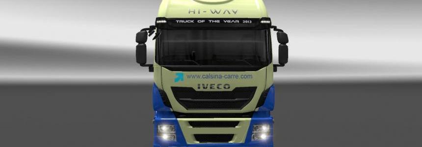 Skin Iveco Hi-Way Calsina Carre V1 & V2 For ETS2 1.30