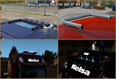 Kelsa Lightbars for DAF XF 105 & 106 v1.7