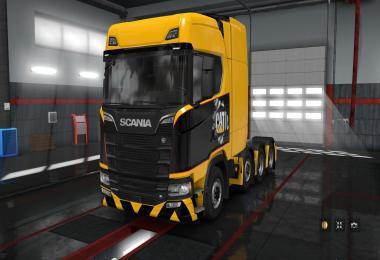 Skin Caterpillar for Scania Next Gen S, R 8x4 v1.0
