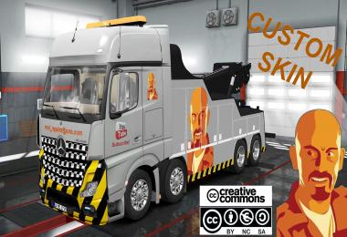 CUSTOM SKIN FOR MERCEDES BENZ ACTROS MPIV CRANE TRUCK ETS2 1.31.x