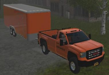 Enclosed trailer ORANGE v1.0