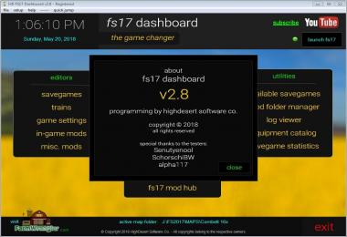 FS17 Dashboard v2.81
