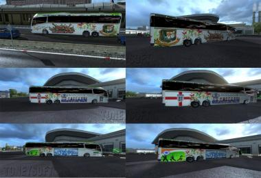 I8 Irzar Bus cricket player bus skin pack Bangladesh India England v1.01