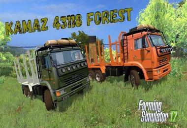 Kamaz 44118 Forest + Trailer v1.0