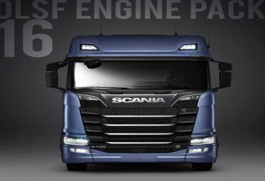 OLSF Engine Pack 16 for Scania S 2016 v16.0