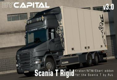 Rigid chassis for RJL Scania T & T4 (Kraker/NTM/Ekeri) v3.0