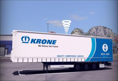 Scs New Krone Trailer Reworked Lowbed Megaliner 1.31