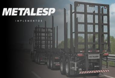Trailer Metalesp Bi-Train Wood Transport 7 Axles v0.2