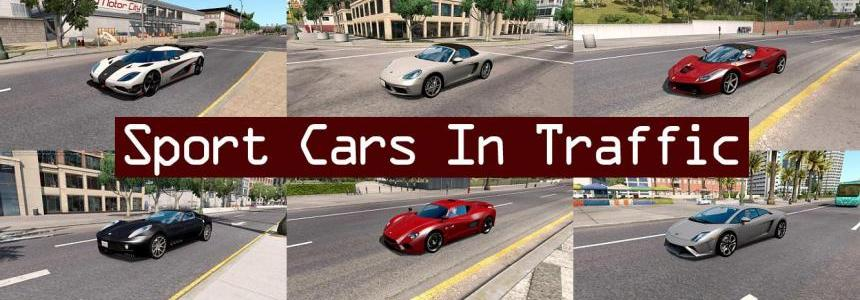 Sport Cars Traffic Pack ATS by TrafficManiac v1.1