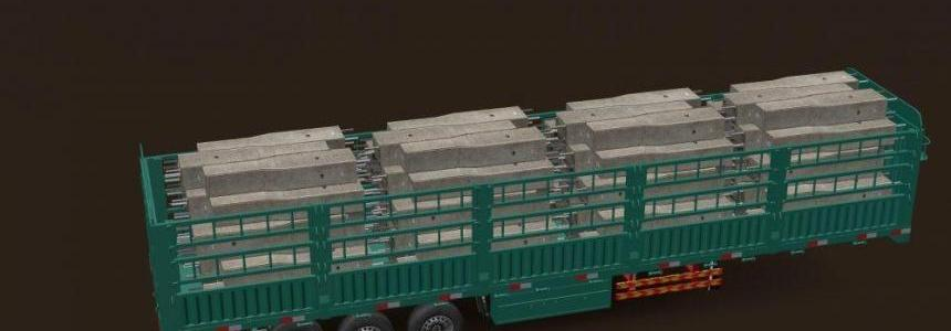 Mega Concrete Long Trailer v1.0