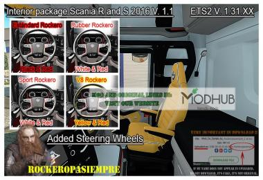 Interior package Scania R and S 2016 v1.1 ETS2 1.31.x