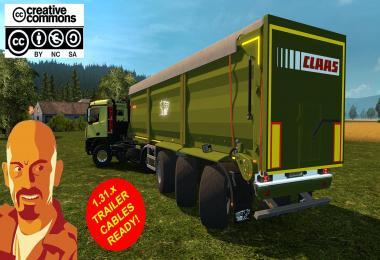 KRAMPE SB3060 AGRICULTURAL TRAILER (NEEDS AGRAR TRUCK) ETS2 1.31.x
