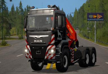 MAN TGS 6x4 crane v1.5