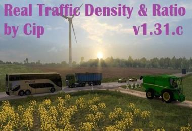 Real Traffic Density and Ratio by Cip 1.31.c