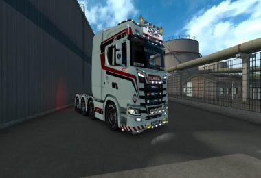 Scania S White Commander 8x4 Skin 1.31