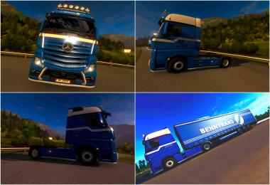 Skin Benntrans Mercedes Actors 2014 For ETS2 1.30