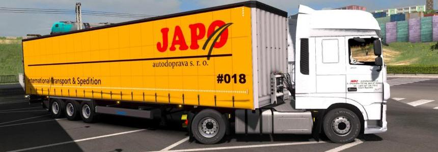 DAF E6 + Trailer Krone - JAPO transport 1.31