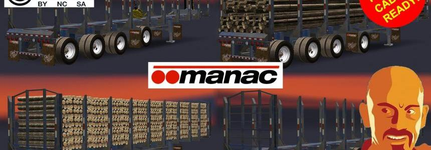 MANAC 4 AXIS LOG TRAILER ETS2 1.31.x