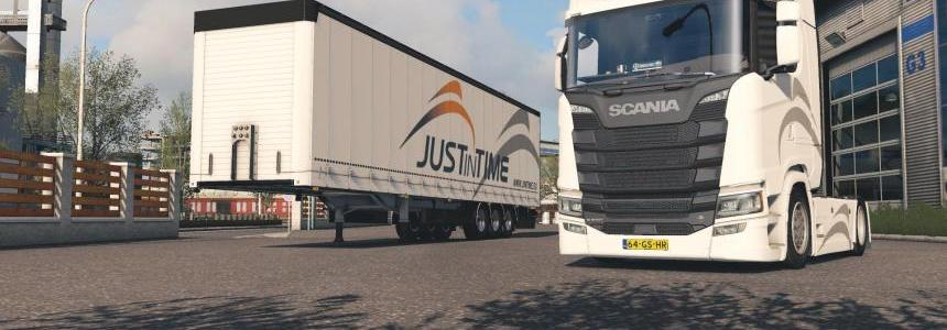 Scania S + Fliegl SDS350 - Justintime Skin Pack v1.0