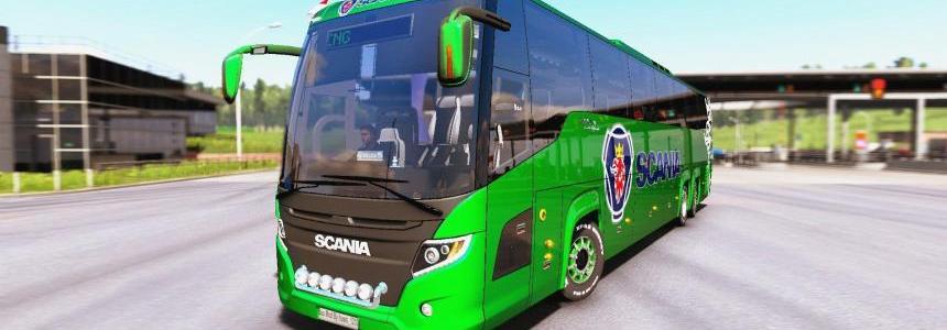 Scania Touring Bus + Interior v1.0 1.31