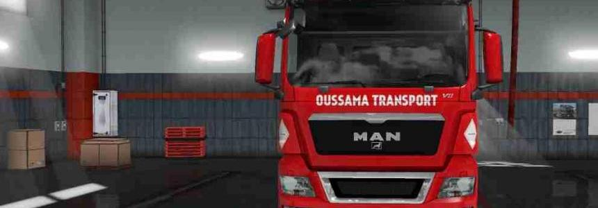 Skin MAN TGX Oussama Transport For ETS2 1.31