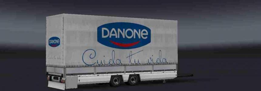 Trailer Tandem Danone v2 For ETS2 1.31