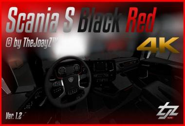 4K Scania S V8 Black Red Mod v1.2 1.31.x