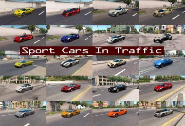 Sport Cars Traffic Pack ATS by TrafficManiac v1.3