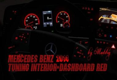 Mercedes Benz 2014 Tuning Interior Dashboard Red 1.31