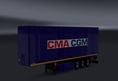 CMA CGM Trailer Blue v1.0
