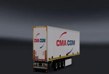 CMA CGM White Trailer v1.0