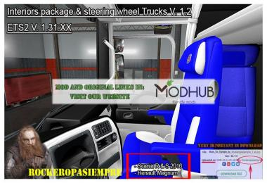 Interior package & steering wheel Trucks v1.2 By Rockeropasiempre