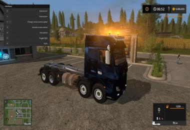 Mercedes Actros MP4 IT Runner 8x8 Blue v1.0