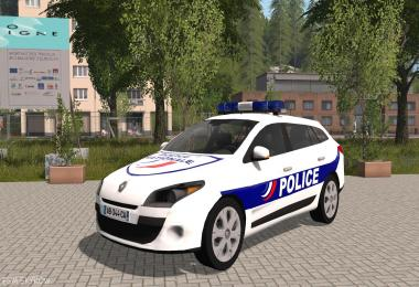 RENAULT MEGANE 3 ESTATE POLICE NATIONALE v2.0